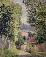 A Road in Louveciennes by Alfred Sisley