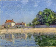 Bords Du Loing, Saint Mammes by Alfred Sisley