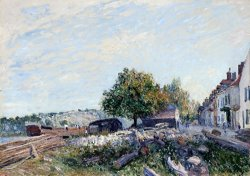 Saint Mammes Morning by Alfred Sisley