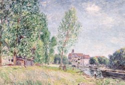 The Builder's Yard At Matrat Moret-sur-loing by Alfred Sisley