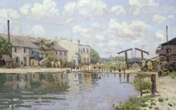 The Canal Saint Martin Paris by Alfred Sisley