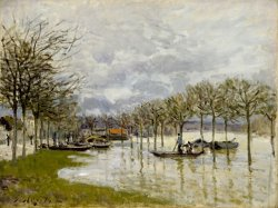 The Flood on The Road to Saint Germain by Alfred Sisley