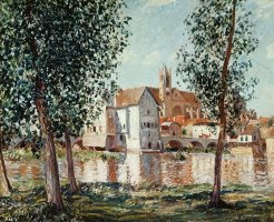 The Loing at Moret September Morning by Alfred Sisley