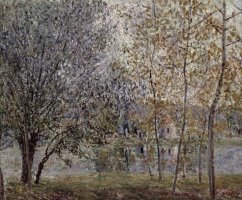 The Loing Canal in Spring by Alfred Sisley