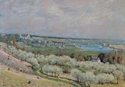 The Terrace at Saint Germain by Alfred Sisley