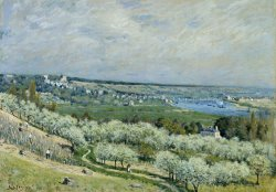 The Terrace at Saint Germain, Spring by Alfred Sisley