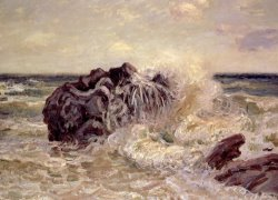 The Wave Lady's Cove Langland Bay by Alfred Sisley