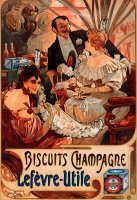 Biscuits Champagnelefevreutile by Alphonse Maria Mucha