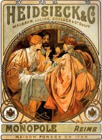 Heidsieck And Co. by Alphonse Maria Mucha