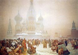 The Abolition of Serfdom in Russia 1914 by Alphonse Marie Mucha