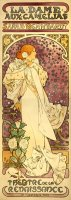 The Lady of The Camellias 1896 by Alphonse Marie Mucha