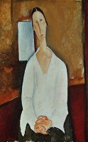 Madame Zborowska with Clasped Hands by Amedeo Modigliani