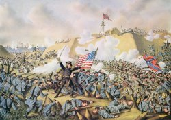 Capture of Fort Fisher 15th January 1865 by American School