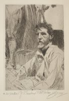 Augustus Saint Gaudens I by Anders Zorn
