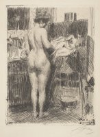 Model Before Picture by Anders Zorn