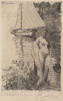My Model And My Boat by Anders Zorn