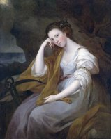 Portrait of Louisa Leveson Gower As Spes by Angelica Kauffmann