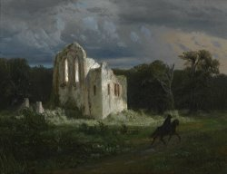 Moonlit Landscape by Arnold Bocklin