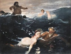 Playing in The Waves by Arnold Bocklin