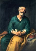 Saint Peter in Tears by Bartolome Esteban Murillo