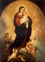 Virgin And Child in Glory by Bartolome Esteban Murillo