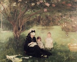 Beneath the Lilac at Maurecourt by Berthe Morisot