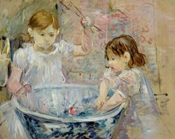 Children At The Basin by Berthe Morisot