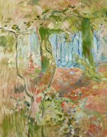 Undergrowth In Autumn by Berthe Morisot