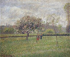 Apple Tree Blossom at Eragny by Camille Pissarro