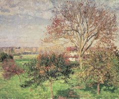 Autumn Morning at Eragny by Camille Pissarro