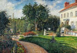 Garden Of Les Mathurins At Pontoise by Camille Pissarro