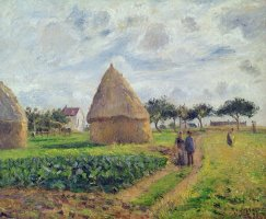 Haystacks by Camille Pissarro