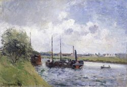 The Banks of The Oise, Near Pontoise by Camille Pissarro