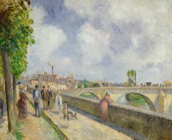 The Bridge at Pontoise by Camille Pissarro