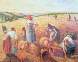 The Gleaners by Camille Pissarro