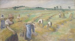 The Harvest by Camille Pissarro