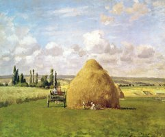 The Haystack by Camille Pissarro