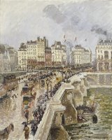 The Pont Neuf on a Rainy Afternoon by Camille Pissarro