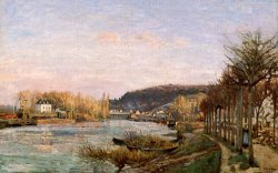 The Seine at Bougival by Camille Pissarro