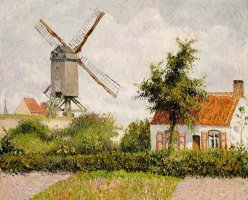 Windmill at Knokke by Camille Pissarro