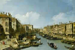 The Grand Canal Near The Rialto Bridge, Venice, C. 1730 by Canaletto