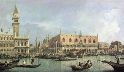 The Molo and the Piazzetta San Marco by Canaletto
