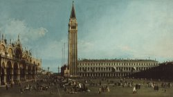 The Piazza San Marco, Venice by Canaletto