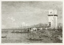 The Tower of Malghera by Canaletto