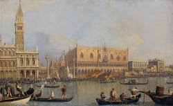 View of The Ducal Palace in Venice by Canaletto