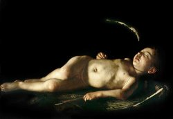 Sleeping Cupid by Caravaggio