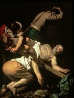 The Crucifixion of St Peter by Caravaggio