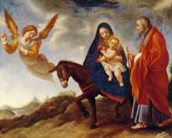 The Flight into Egypt by Carlo Dolci