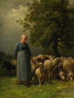 The Missing Flock by Charles Emile Jacque