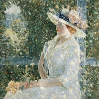 An Outdoor Portrait of Miss Weir by Childe Hassam